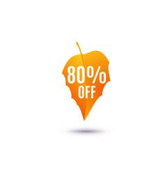 80 percent off discount vector image