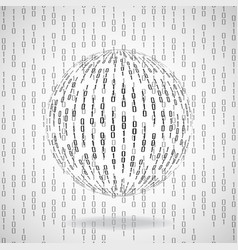 ball of binary code abstract technology vector image