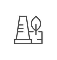 environmentally save factory line icon vector image