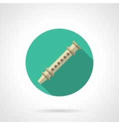 Reed pipe round flat color icon vector image vector image