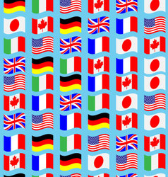 Seamless pattern flag g7 wave vector image vector image