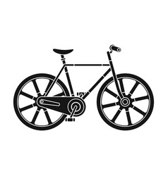sport bike racing on the track speed bike with vector image