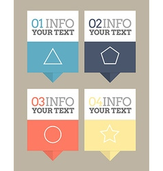 flat design pointers vector image vector image