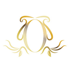 golden shield heraldic luxury frame decoration vector image vector image