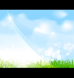 green field and sky background vector image vector image