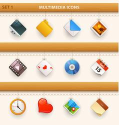hung icons - set 1 vector image