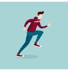 Running man The man on the run Isolated cartoon vector image