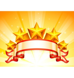 Stars banner vector image vector image