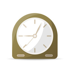 vintage analog clock icon vector image