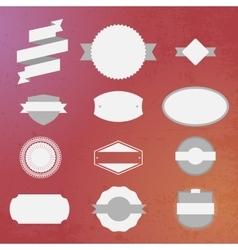 Vintage white Labels Set on colorful Background vector image vector image