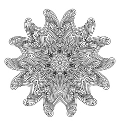 Wave style mandala for coloring book Decorative vector image