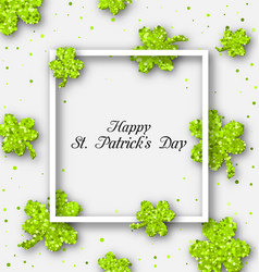 abstract banner with clovers for happy st vector image