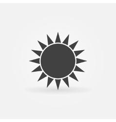 Black sun logo or icon vector image vector image