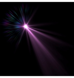 blue flare vector image vector image