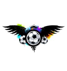 Graffiti image with balls vector image vector image