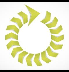 Green arrow concept design vector image vector image