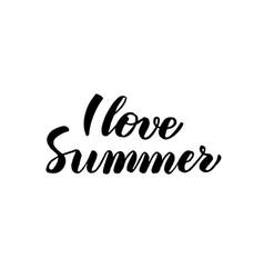 Love summer handwritten calligraphy vector