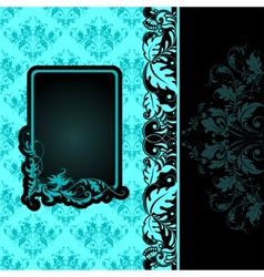 frame on seamless background vector image vector image