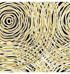 Seamless pattern with golden circle vector image
