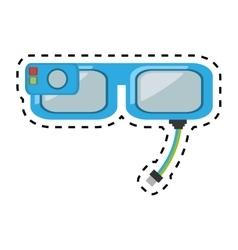 smart glasses wearable device design cut line vector image