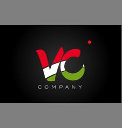 Vc v c alphabet letter logo combination icon vector