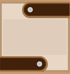 abstract brown beige background with leather strap vector image