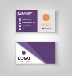 abstract business card template design vector image