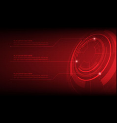 Abstract red circle digital technology background vector
