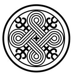 Ancient decorative pattern in celtic style vector