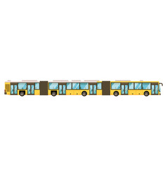 articulated bus icon isolated on white background vector image