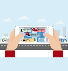 augmented reality in marketing vector image