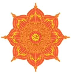 Background round Yoga mandala vector