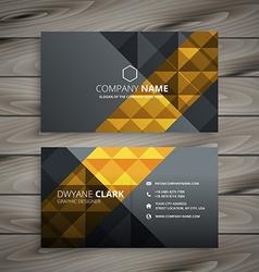 Black golden business card design vector