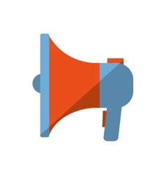blue and orange megaphone speaker marketing color vector image
