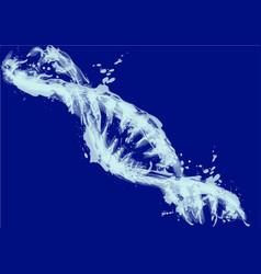 Blue model dna vector