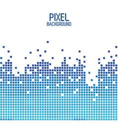 blue pixel background design over white vector image