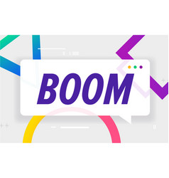 Boom in design banner template for web vector
