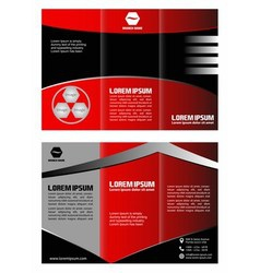 Brochure template folder leaflet vector