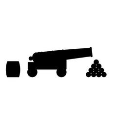 Cannon silhouette vector