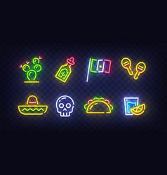 cinco de mayo icons icon from mexican vector image