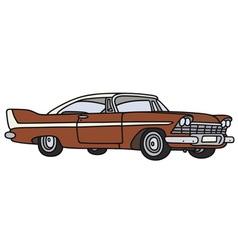Classic american car vector