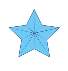 cute modern and big star design vector image