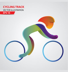 cycling track sport logo vector image