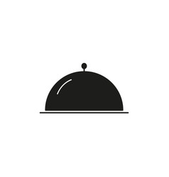 dinner of the restaurant icon black vector image