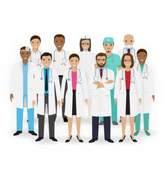 doctors nurses and paramedics icons group of vector image