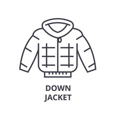 down jacket line icon outline sign linear symbol vector image
