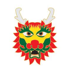 dragon face in cartoon style vector image
