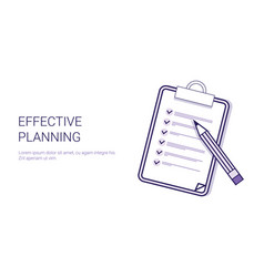 effective planning concept time management vector image