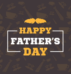 father day background card brown vector image