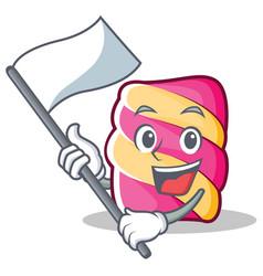 Flag marshmallow character cartoon style vector